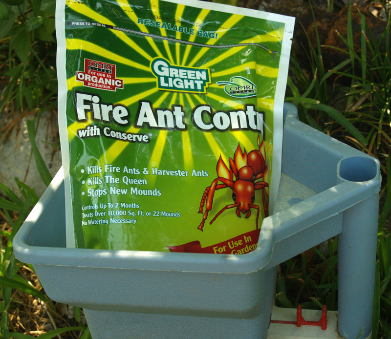 Greenlight with Conserve fire ant bait with spinosad