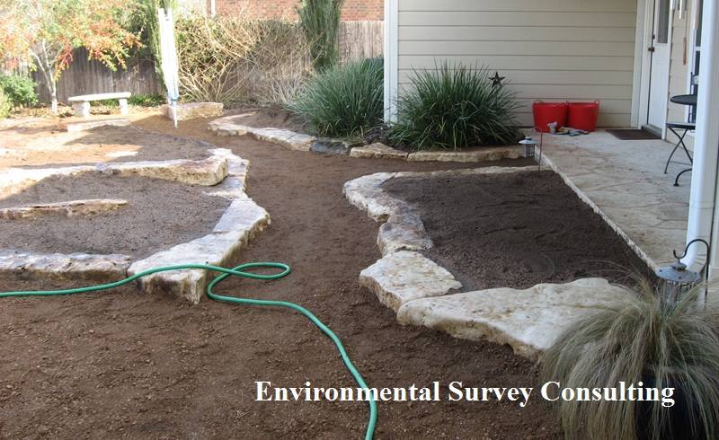 Laying rock borders, Environmental Survey Consulting