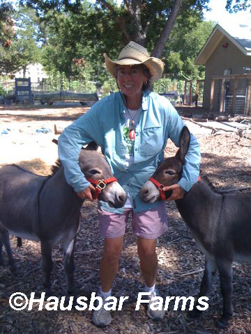 Dorsey Barger Hausbar Farms with donkeys