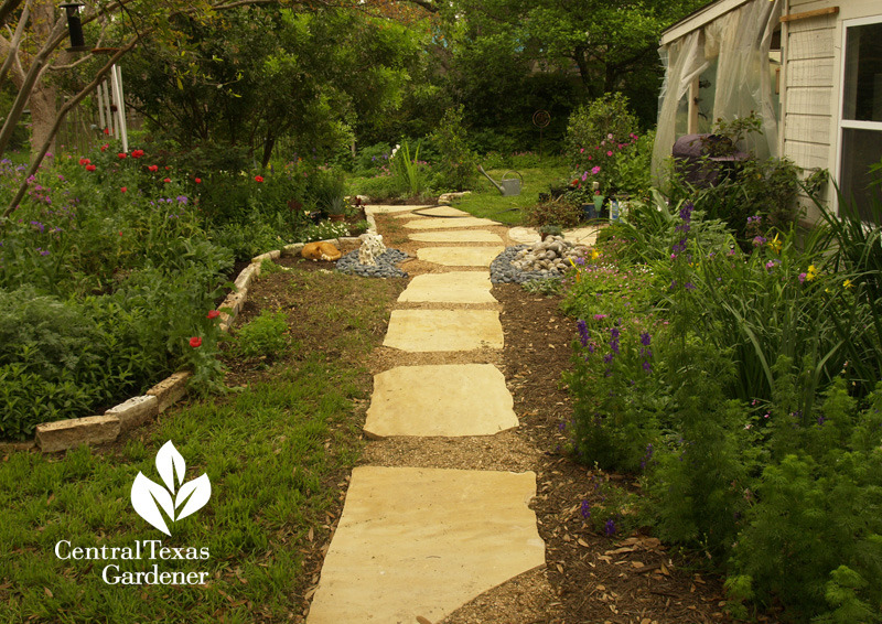 lawn replace with stone pathway (c) Linda Lehmusvirta