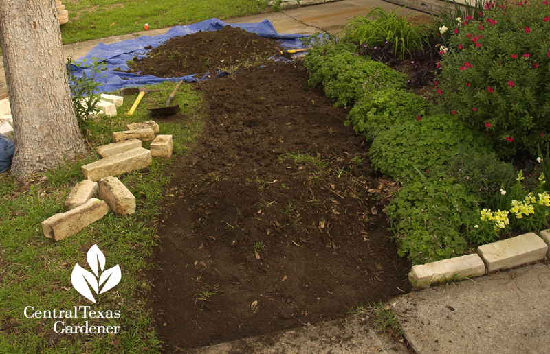 digging out grass with Pearson Landscape Design