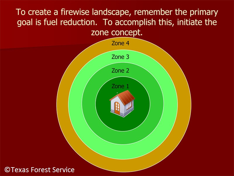Texas Forest Service firewise zones