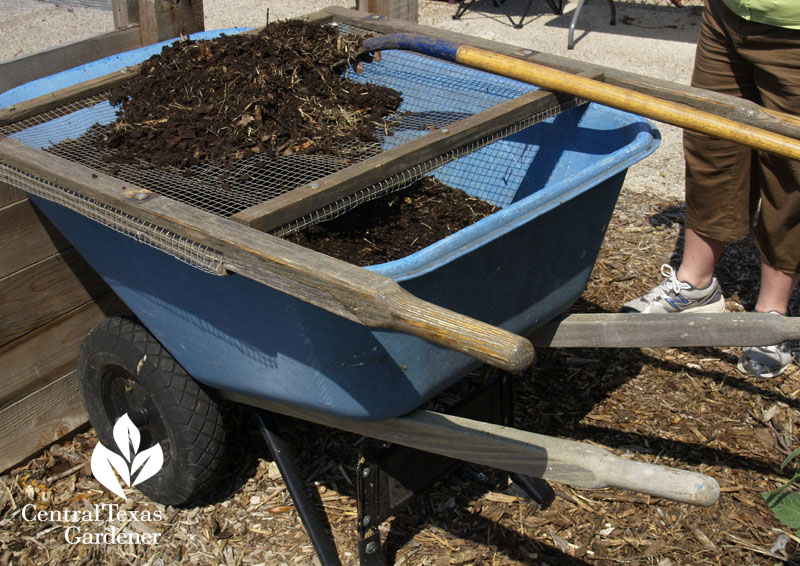 compost screen wheelbarrow handles Sheryl Williams