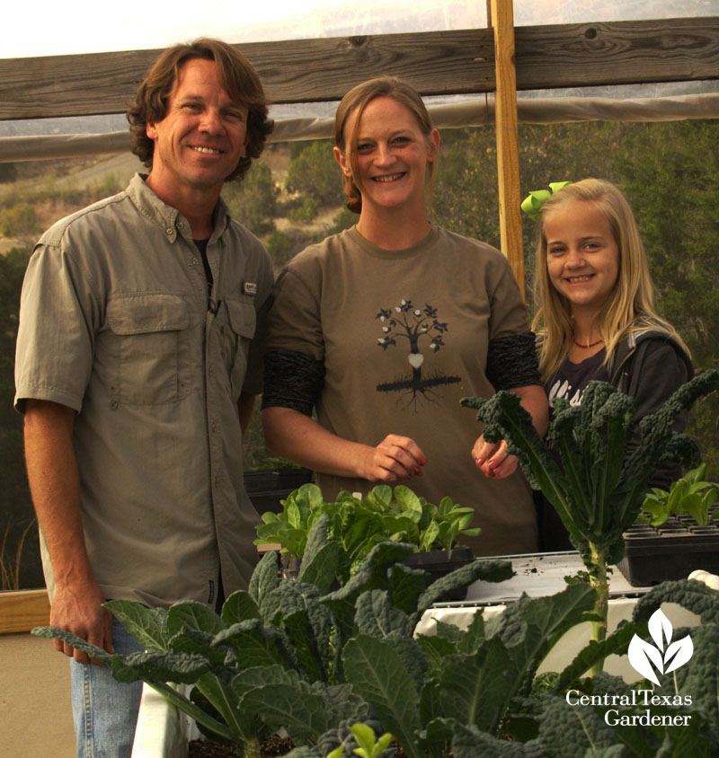 Rob Nash family Austin Aquaponics