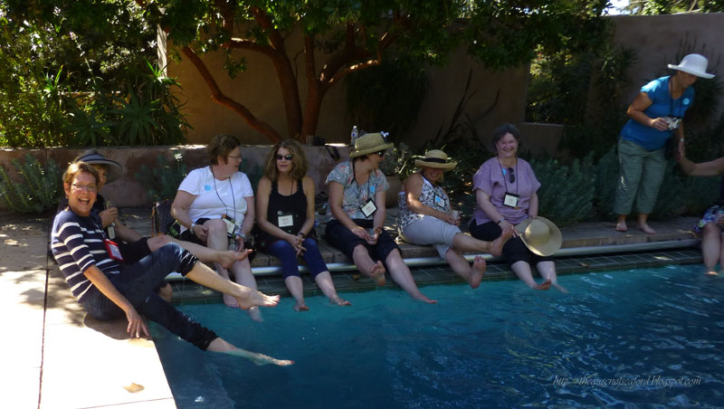 The Queen of Seaford pool picture San Francisco Garden Bloggers Fling