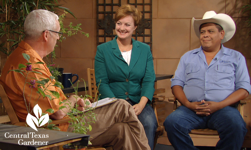 Tom Spencer with guests from The National Butterfly Center