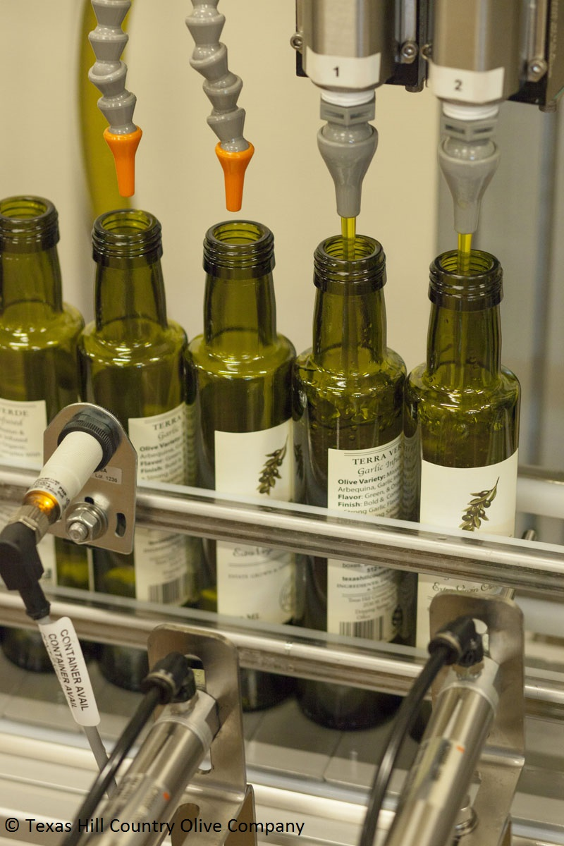 Organic olive oil at Texas Hill Country Olive Company
