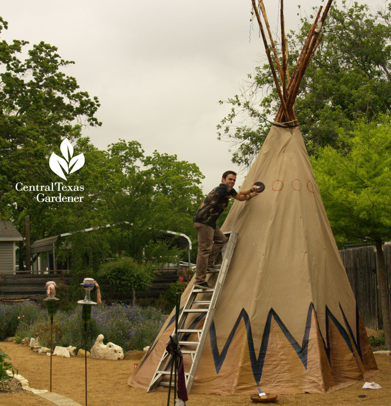 garden tipi by Luke Fowler Hutto Texas