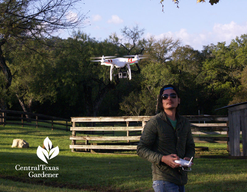 Billy Driver Phantom quadcopter Center Texas Gardener