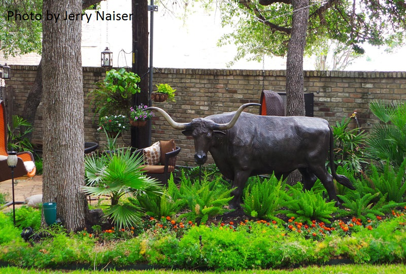 Woodland and art garden Jerry Naiser Austin Texas
