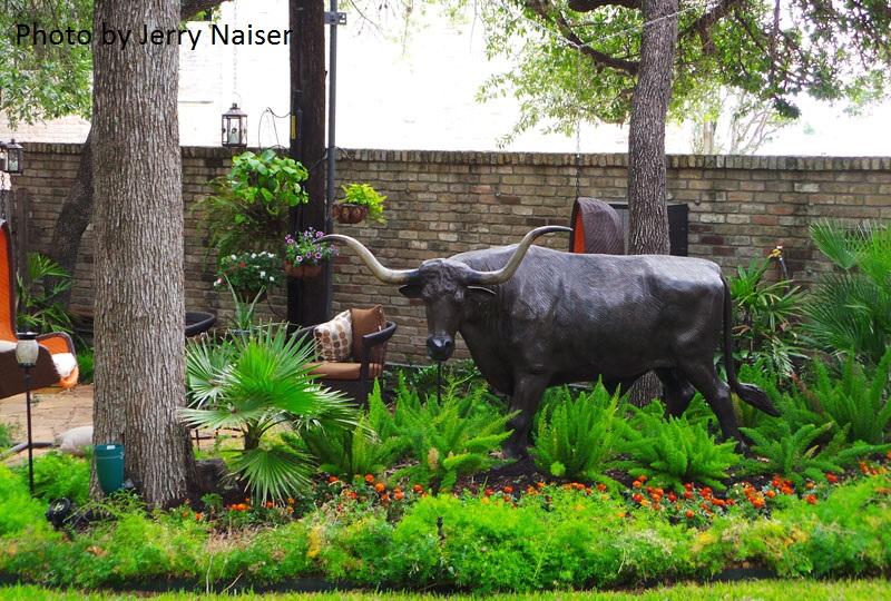 Woodland and art garden Jerry Naiser Austin Texas