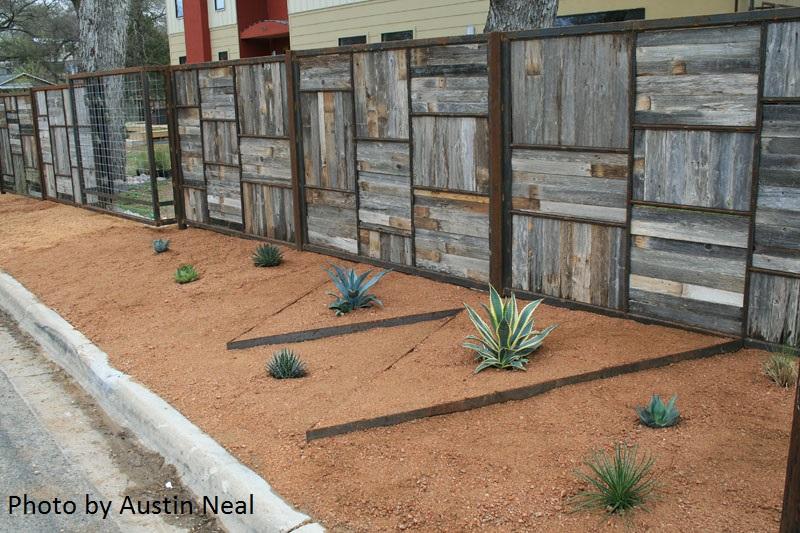 creative fence and curb Austin Neal Austin Texas gsrden