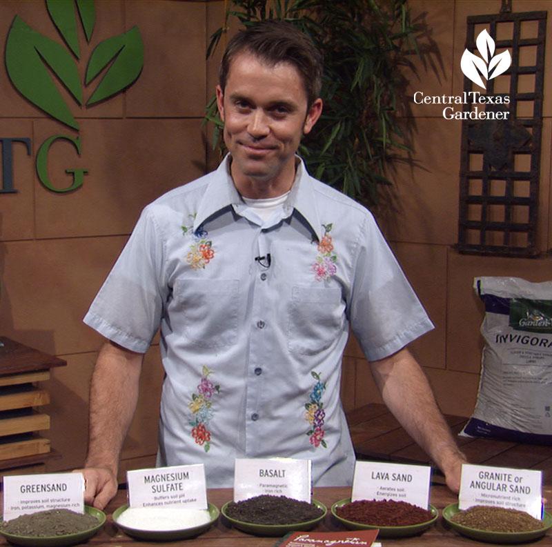 natural minerals for the garden William Glenn Central Texas Gardener