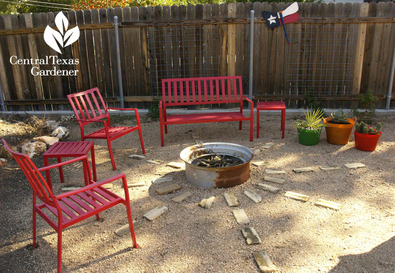 fire pit from scavenged tire rim san antonio garden patio