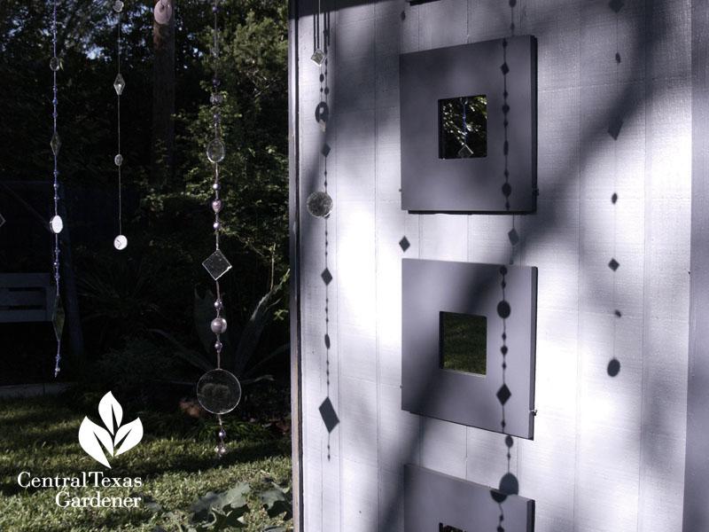 cute garden mirror and prisms austin garden