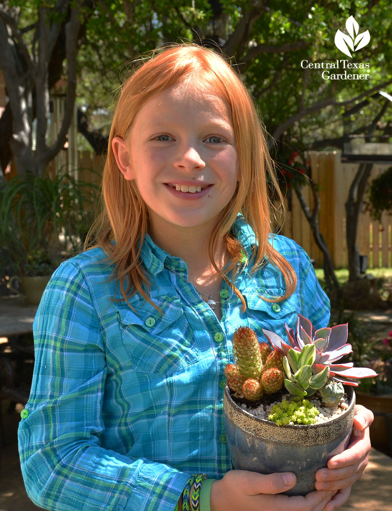 child's succulent container design gorgeous