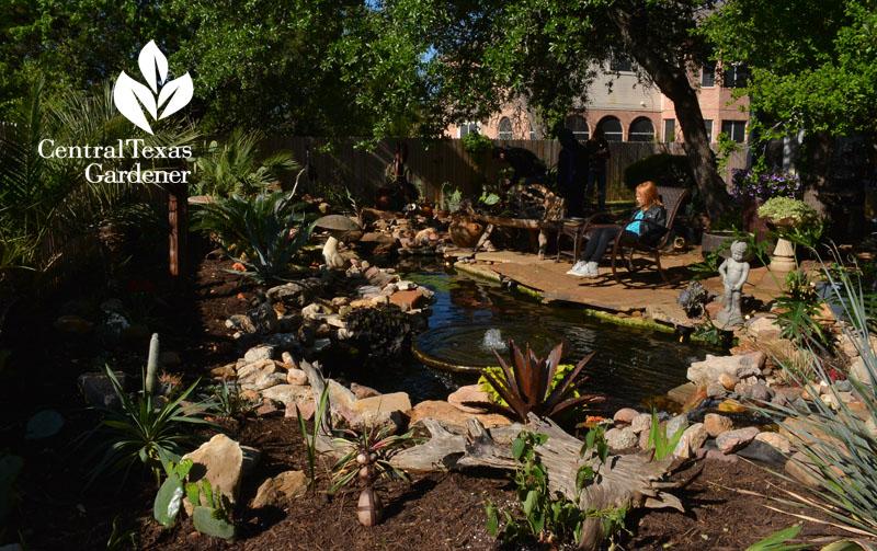 backyard pond design replace playscape central texas gardener