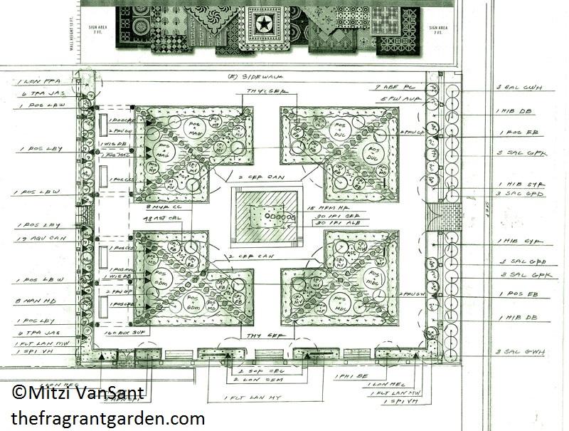 Mitzi VanSant four square fragrant garden design