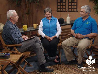 pond tour Tom Spencer with Linda and Karl Tinsley Central Texas Gardener