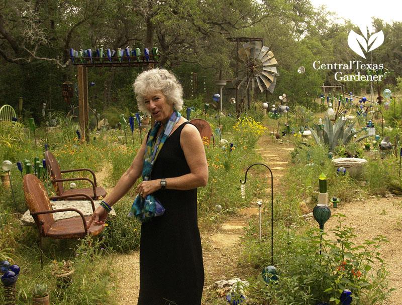 Healing garden bottle world battle with cancer central texas gardener