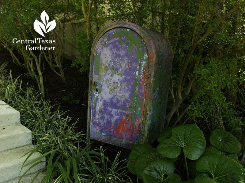 classic mailbox garden tool storage Lynne Dobson