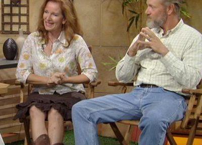 Gardeners Erin Flynn and Skip Connett