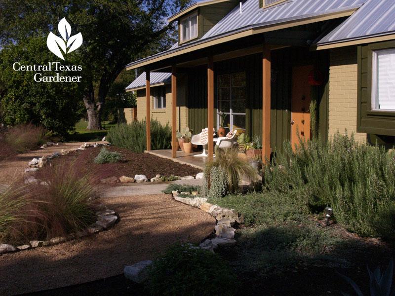 Xeric-style no lawn wildlife garden San Antonio central texas gardener