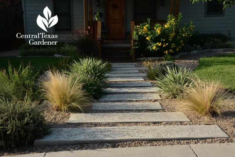 walkway with native plants web