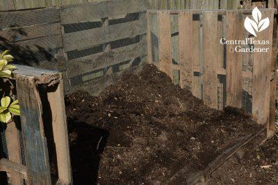compost bin at Ten Acre Organics Central Texas Gardener