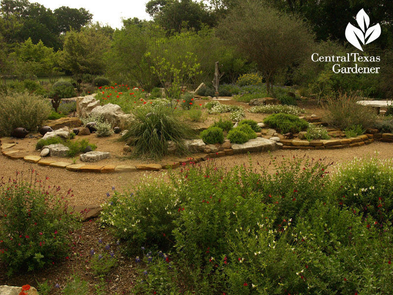 rocky berm for native plants Central Texas Gardener