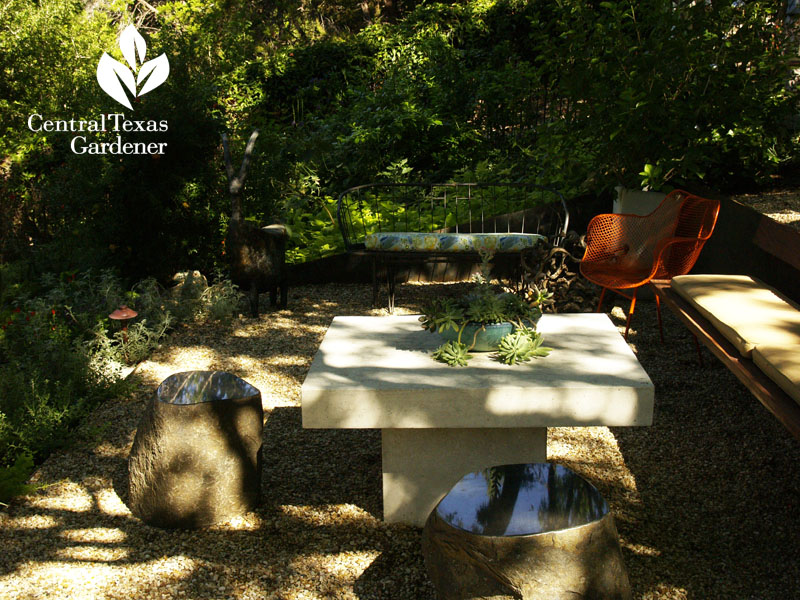 Lynne Dobson's shady garden on a slope Central Texas Gardener