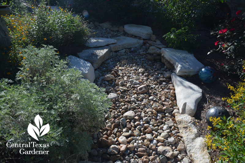 dry creek bed Central Texas Gardener