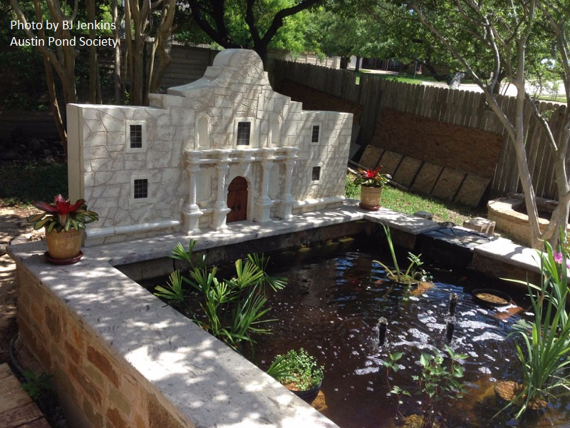 Alamo garden art pond design