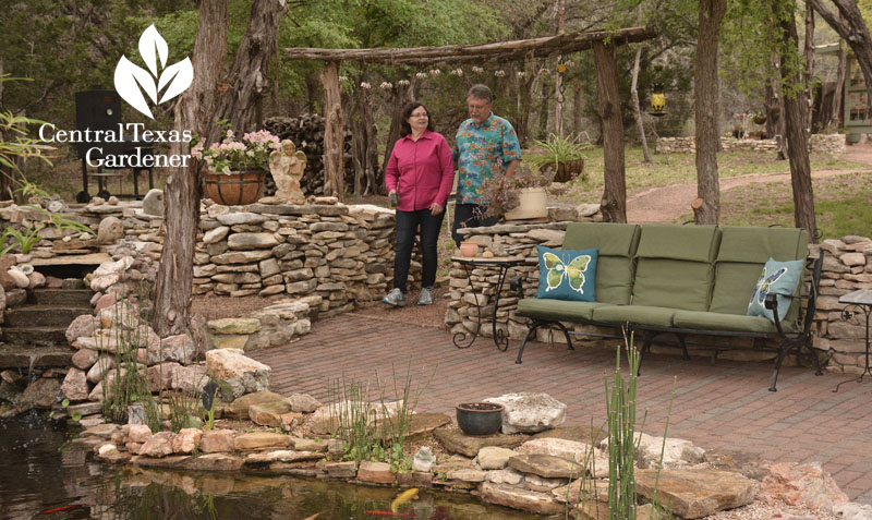 Pond and patio design Liberty Hill Central Texas Gardener