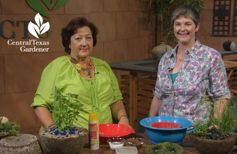 hypertufa how to Central Texas Gardener Colleen Dieter and Trisha Shirey