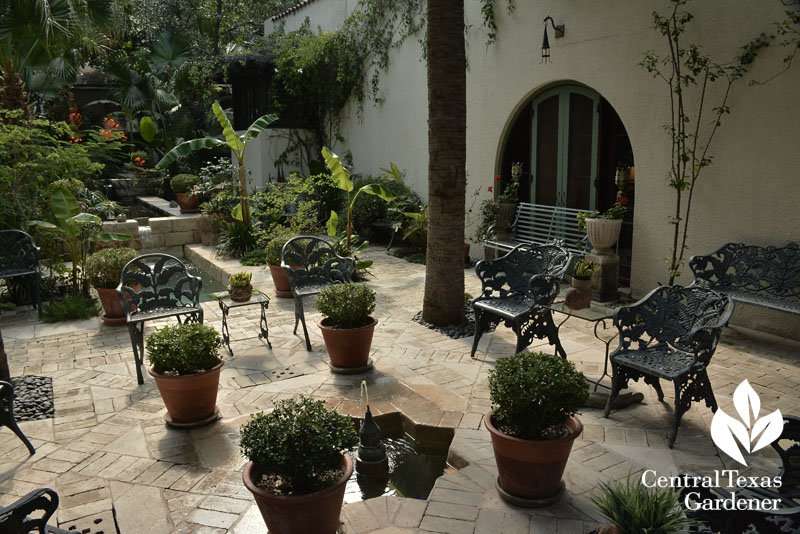 Mission style courtyard garden Central Texas Gardener