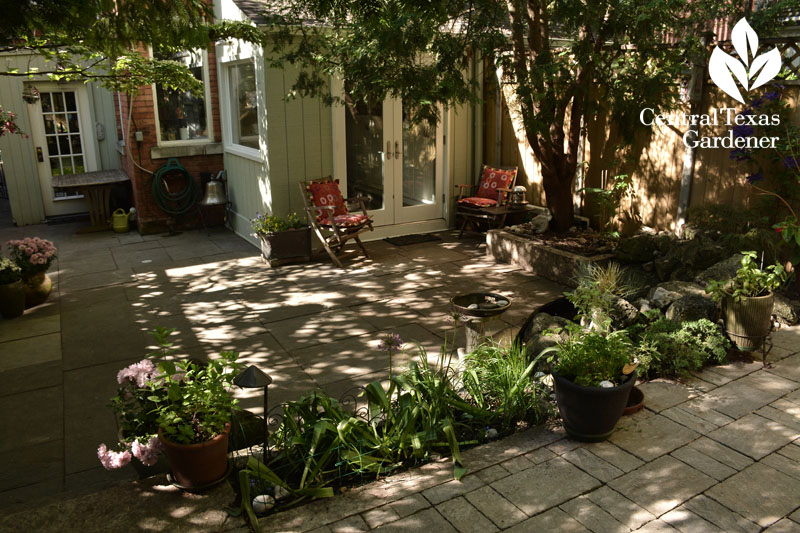 Small patio Toronto view from inside Central Texas Gardener