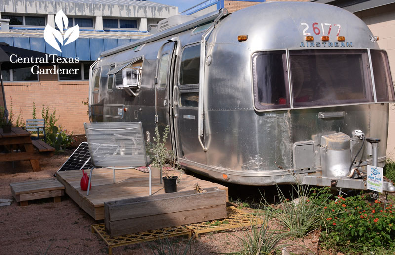 Airstream patio Ann Richard School Central Texas Gardener