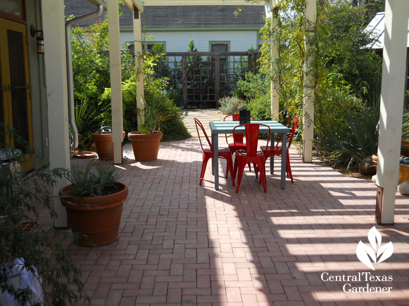 brick patio modern breezeway Central Texas Gardener