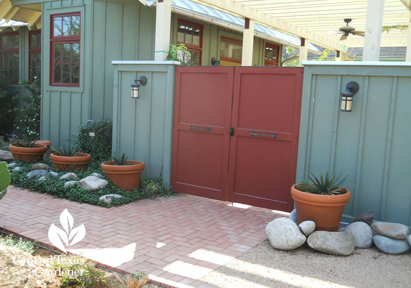 courtyard doors to patio Central Texas Gardener