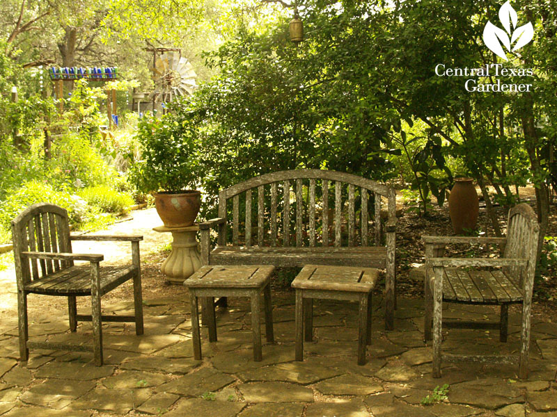 shady flagstone patio Central Texas Gardener