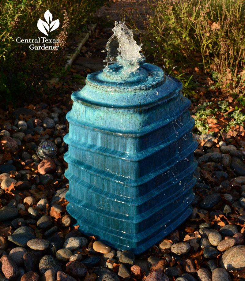 cute disappearing fountain for wildlife Central Texas Gardener