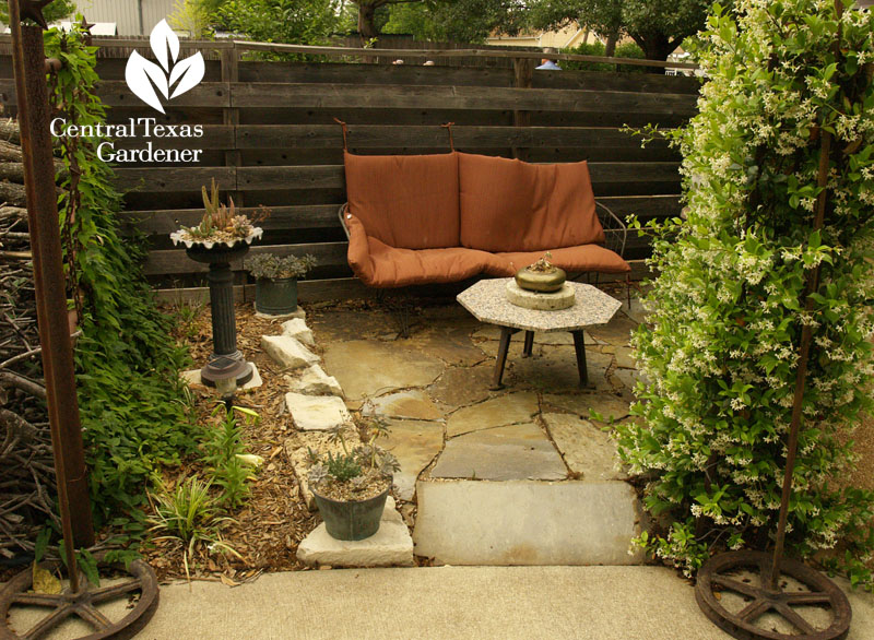 cute niche patio from recycles Central Texas Gardener