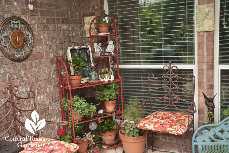 Colorful containers patio Central Texas Gardener