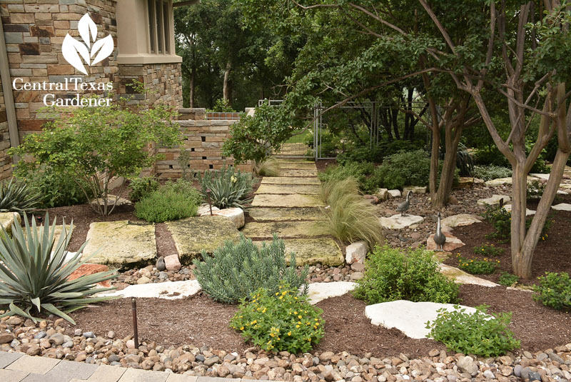 pathway stones dry creek bed main walkway Central Texas Gardener