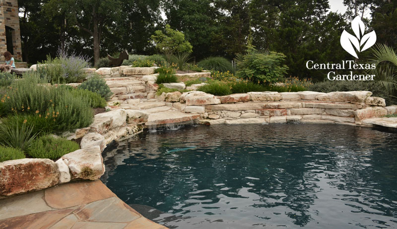 natural looking pool Hill Country garden Central Texas Gardener