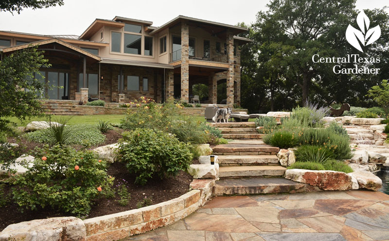 Hill Country garden patio berms Central Texas Gardener