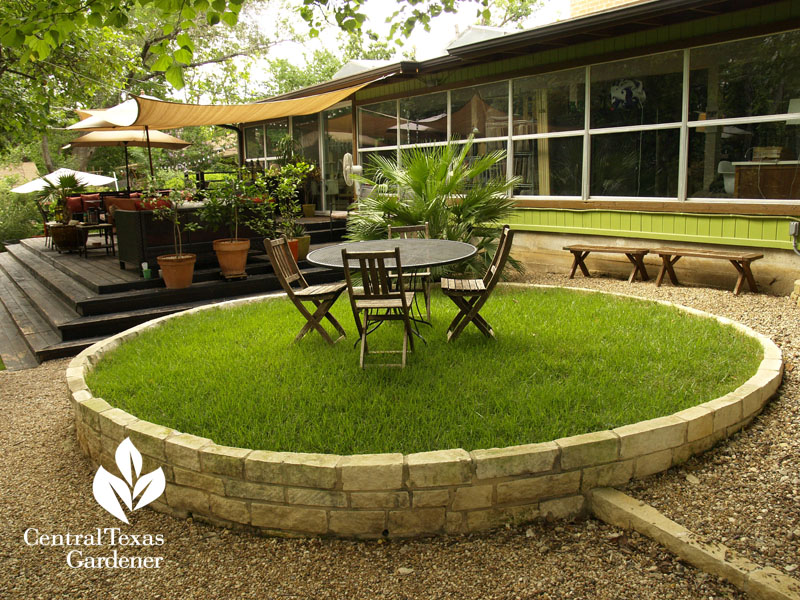 limestone bed lawn patio Central Texas Gardener