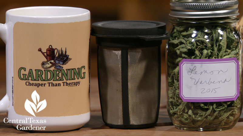 mug and lemon verbena gift idea Central Texas Gardener