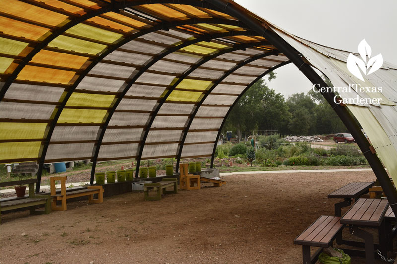 quonset hut teaching garden Sustainable Food Center  Central Texas Gardener